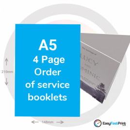 A5 - 4 page Order of Service