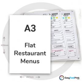 A3 Restaurant Menus (Flat)