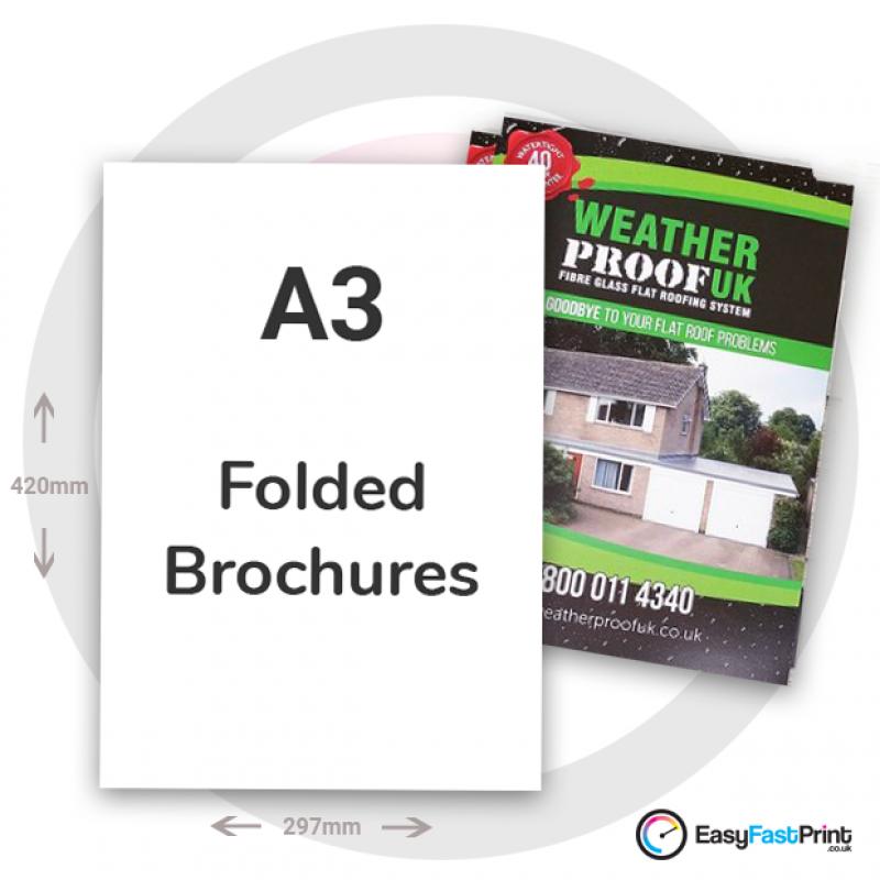 A3 Folded Brochures