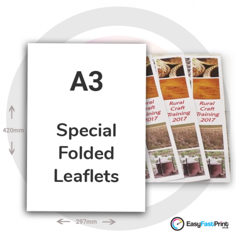 A3 Special Folded Leaflets