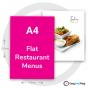 A4 Flat Restaurant Menus