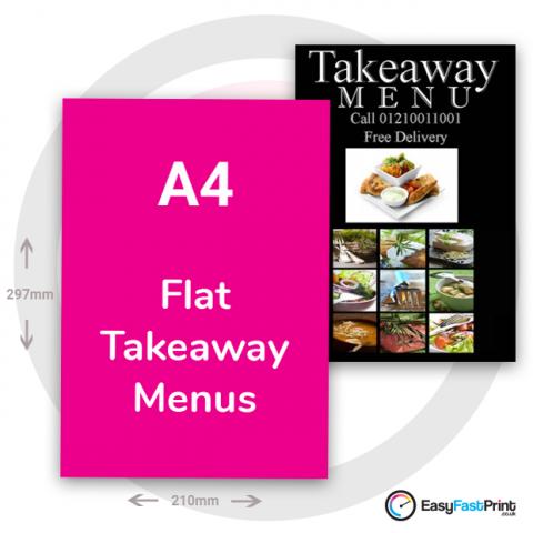 A4 Takeaway Menus (Flat)