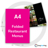 A4 Folded Restaurant Menus
