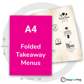 A4 Folded Takeaway Menus