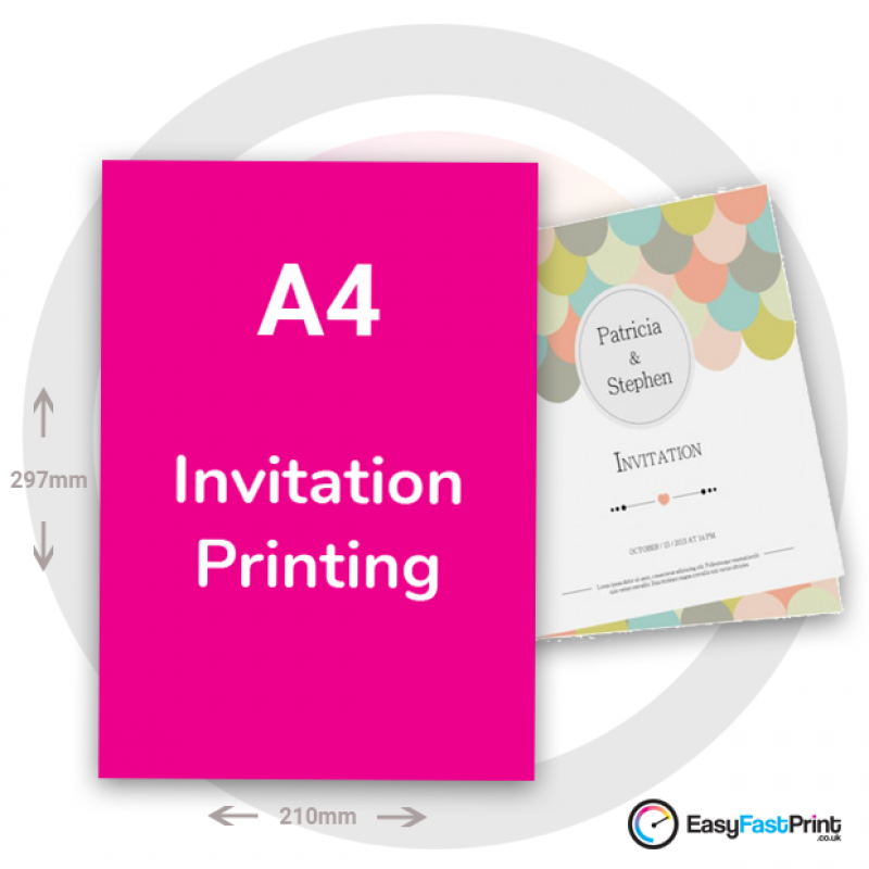 A4 Folded Invitations