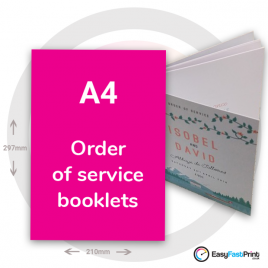 A4 Order of Service Booklets