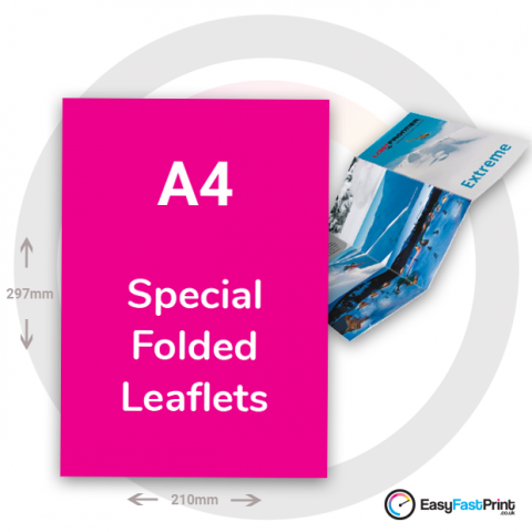 A4 Special Folded Leaflets