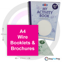 A4 Wire Bound Brochures and Booklets