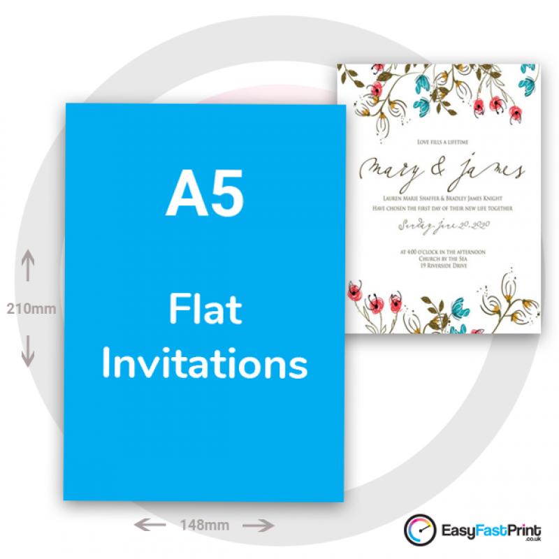 A5 Invitations (Flat)