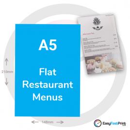 A5 Flat Restaurant Menus