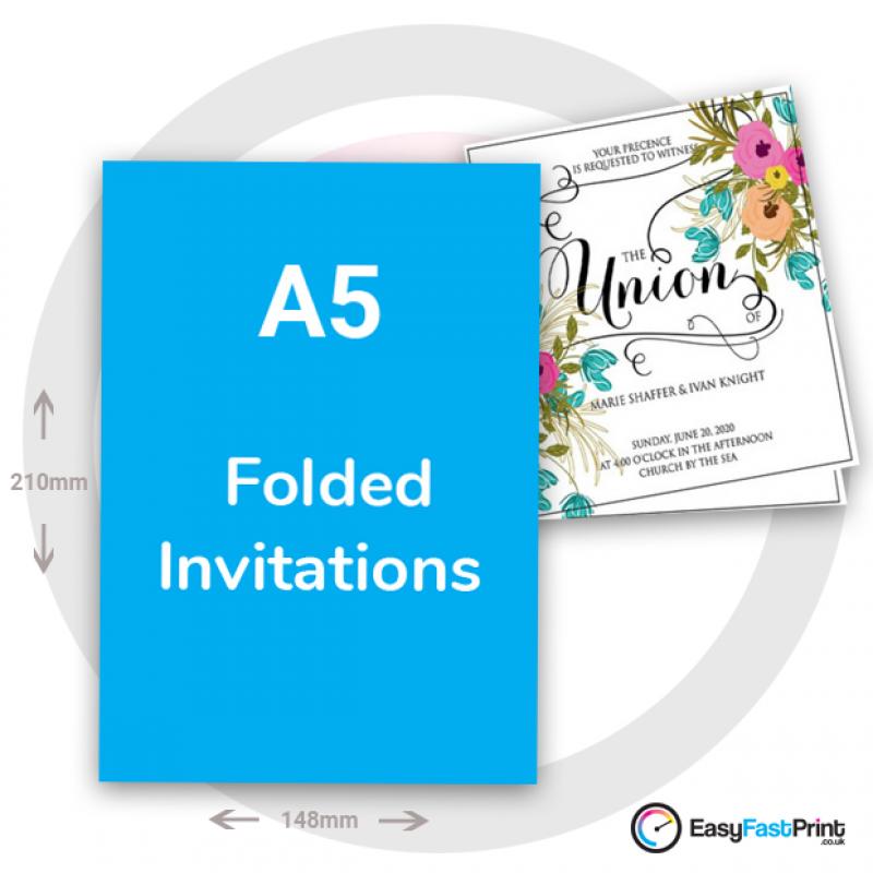 A5 Folded Invitations