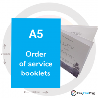 A5 Order of Service Booklets
