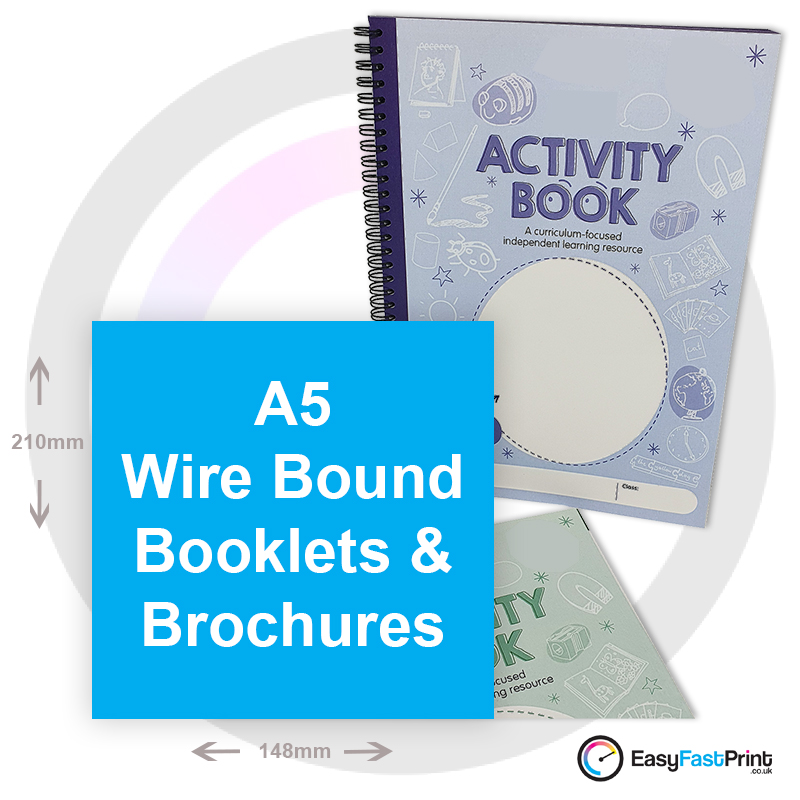 A5 Wire Bound Brochures and Booklets