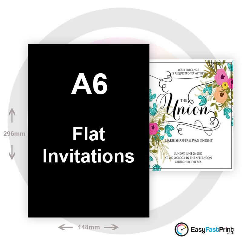 A6 Invitations (Flat)