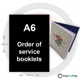A6 Order of Service Booklets