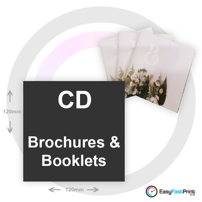CD (120mm x 120mm) Brochures and Booklets